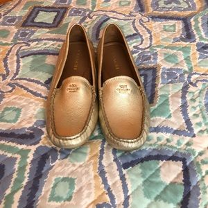 Coach Gold Loafer size 7 1/2.